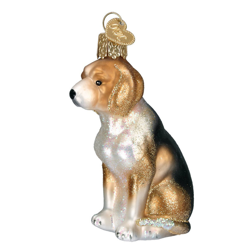Old World Christmas Blown Beagle Ornament