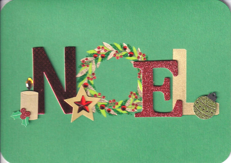 Hand Made Noel Christmas Card