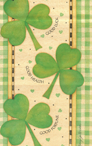 Good Luck, Health, & Fortune St.Patrick's Day Greeting Card