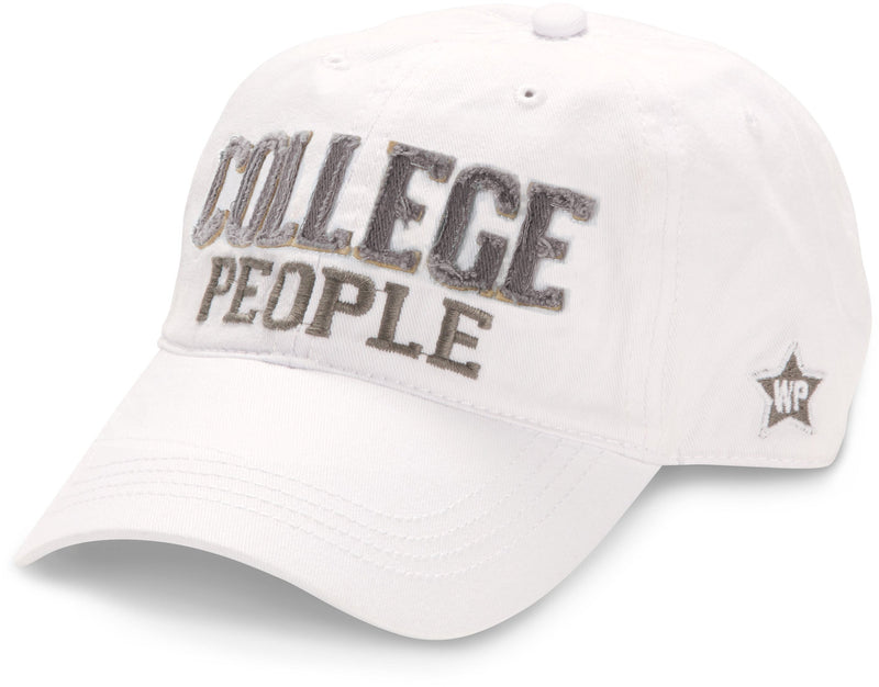 College People  - White  Adjustable Hat