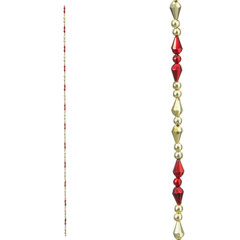 Beaded Garland: Red/Gold, 36 inches