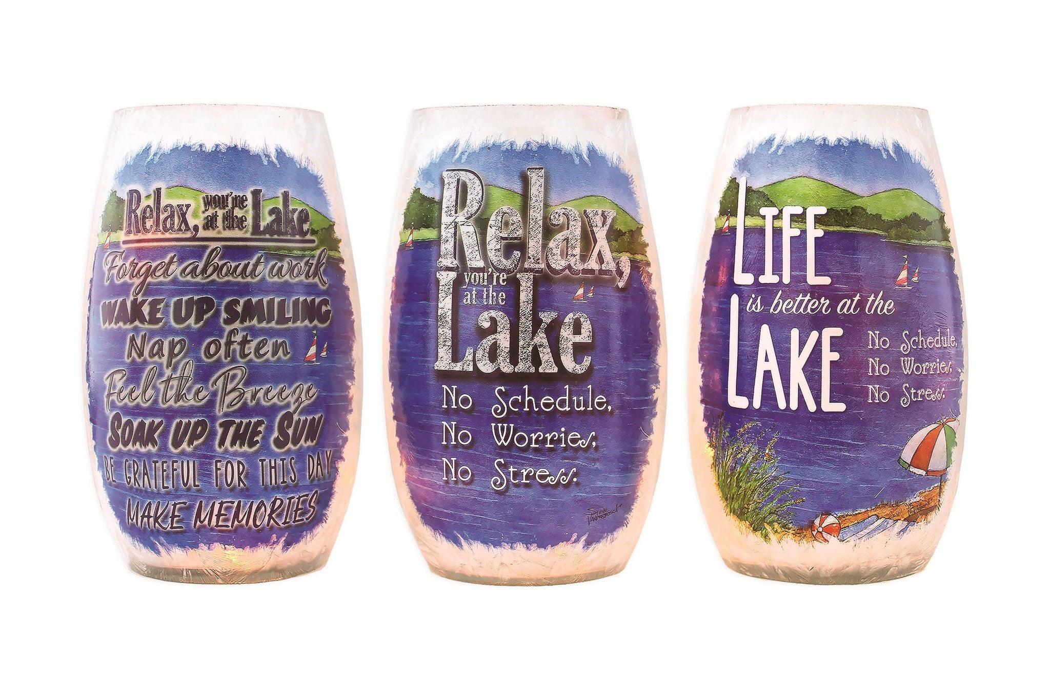 Lake Life Lighted 5 Inch Vase -