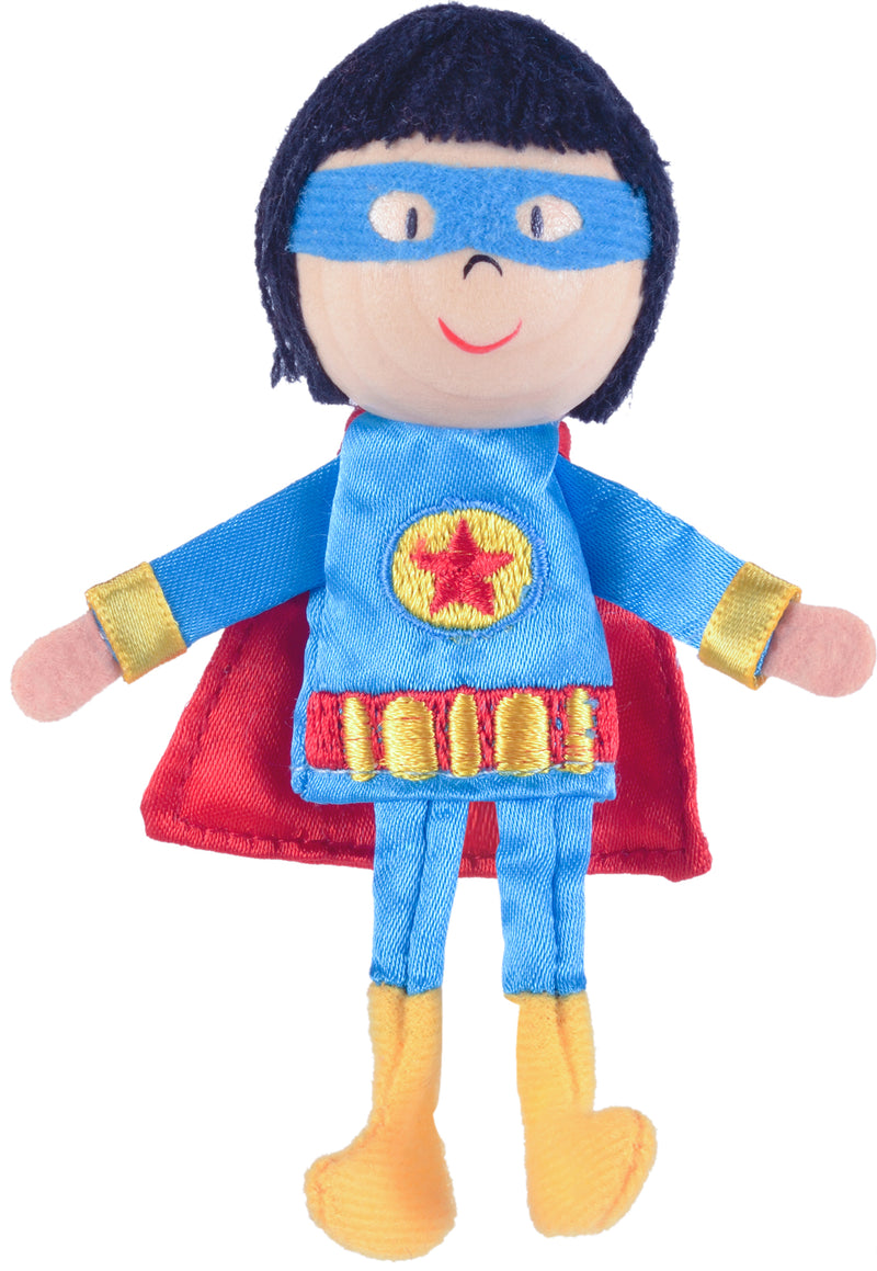 Super Hero Boy Finger Puppet