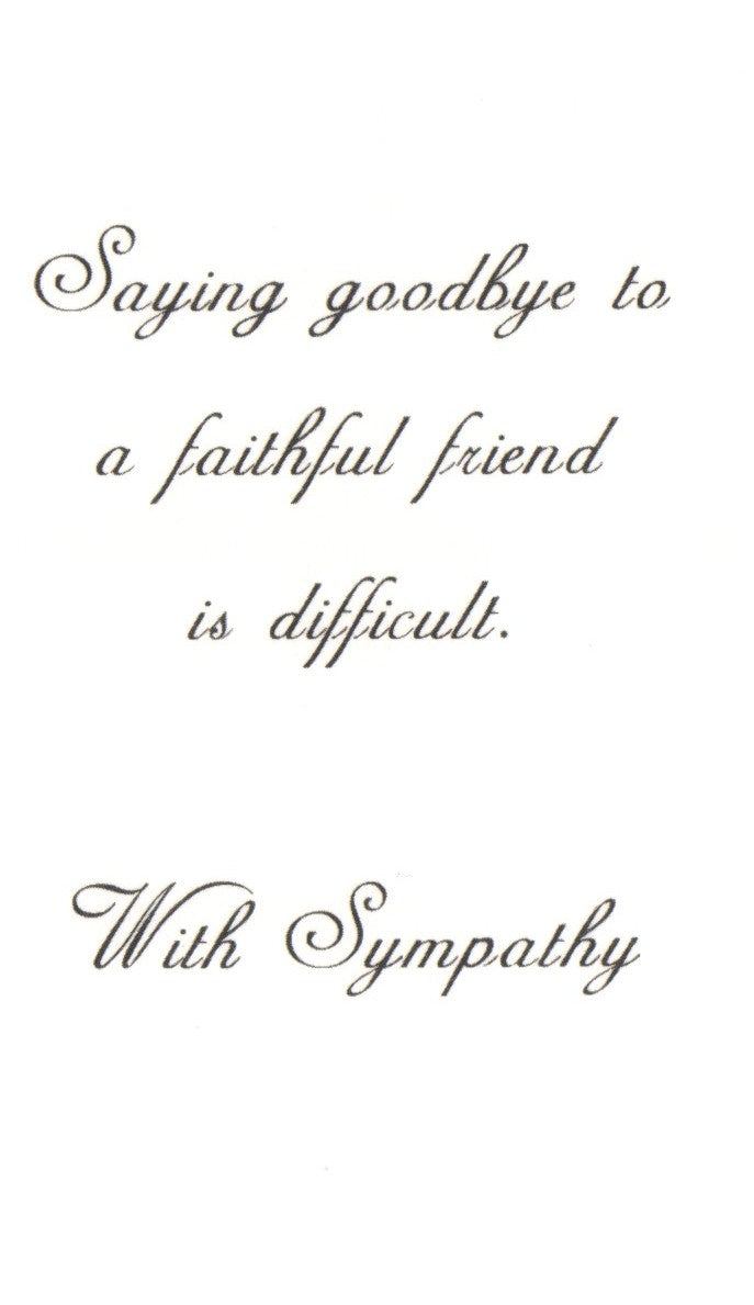 Saying Goodbye Sympathy Card
