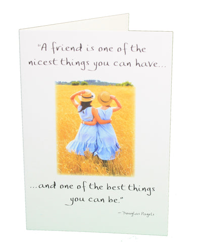 A Friend is one of the nicest things you can have