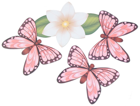 Butterfly and Flower 4 Piece Magnet Set