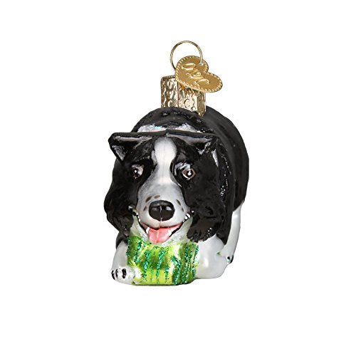 Old World Christmas Herding Border Collie