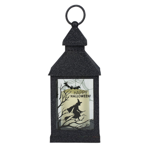 Lighted Glittered Witch Lantern