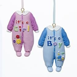 Painted Baby Pajamas Ornament -
