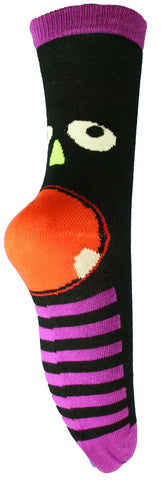 Knit Monster Face Socks -