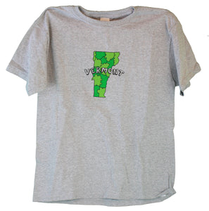 Vermont Puzzle Youth Sports Grey T-Shirt -