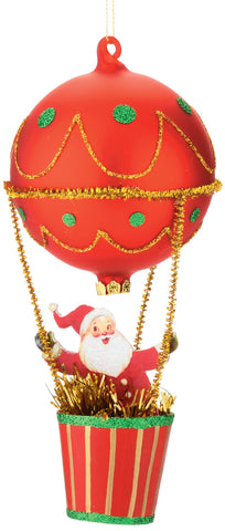 Department 56 Here Comes Santa Claus in Balloon Hanging Ornament