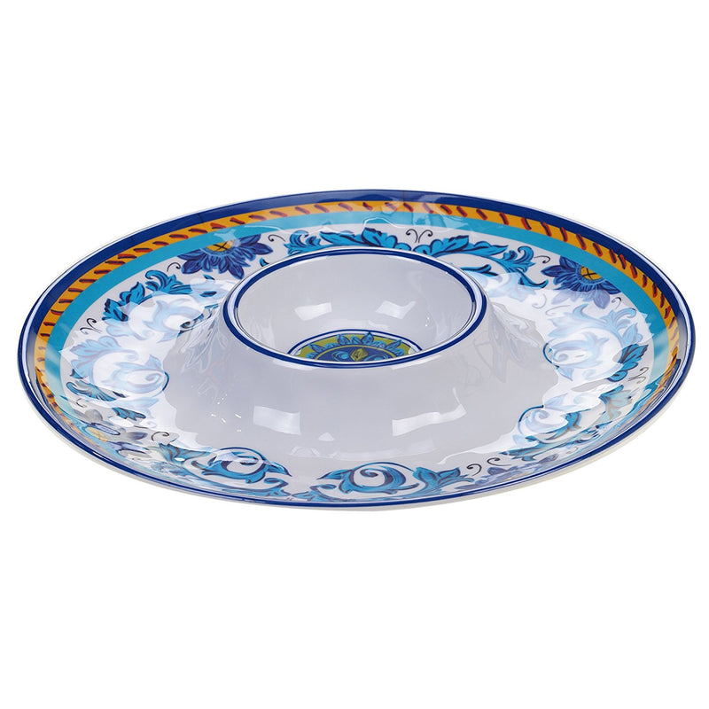 Lucca Melamine Chip & Dip Server