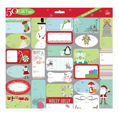 50 Peel & Stick Gift Tags