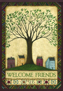 Welcome Tree Flag - Large Flag