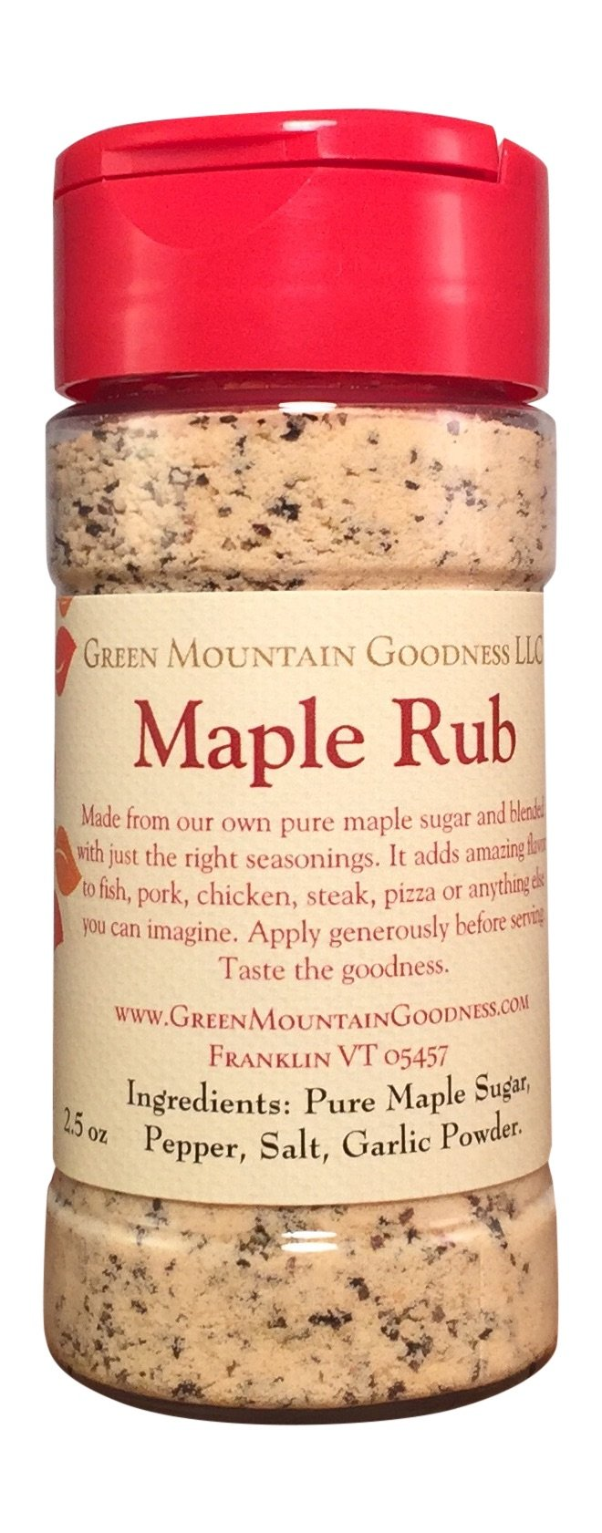 Maple Rub Spice Seasoning From Pure Vermont Maple Syrup