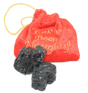 Embroidered Bag with a Lump Of Coal