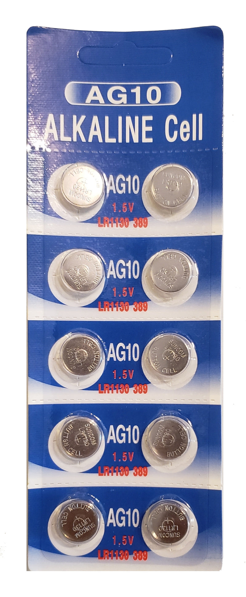 AG10 (LR1130) Alkaline Button Battery 10 Pack