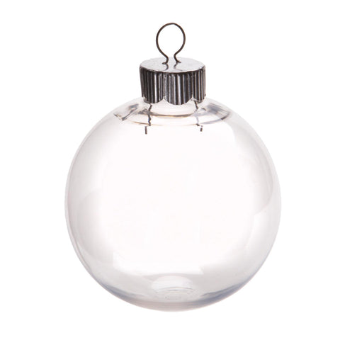 Clear Plastic Round Ornaments - 67mm