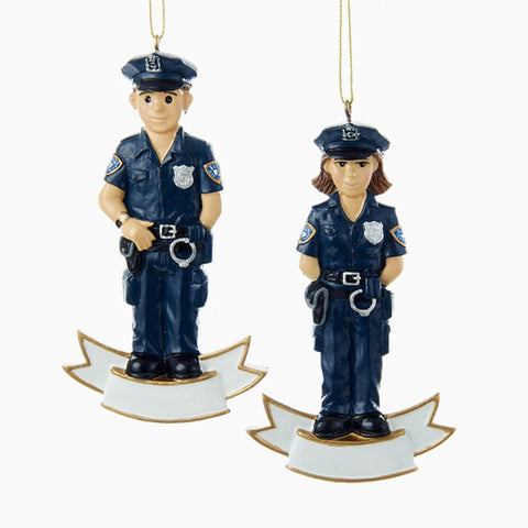 4.25 Inch Police Officer Ornament -
