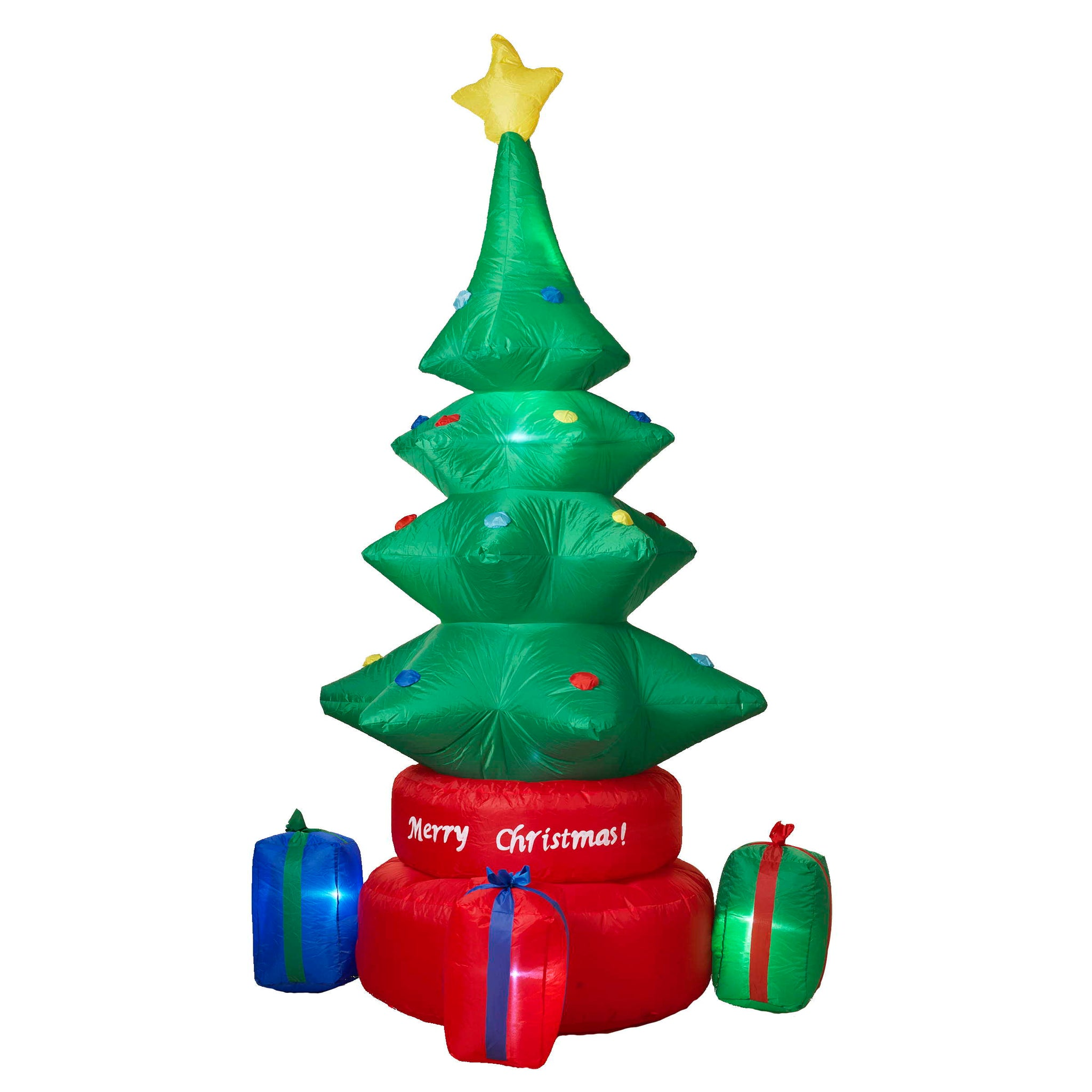 8 Foot Electric Lighted Rotating Tree