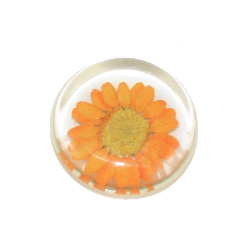 Glass Flower Magnet -