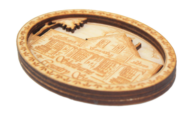 2 Layer Wooden Shelburne Country Store Magnet