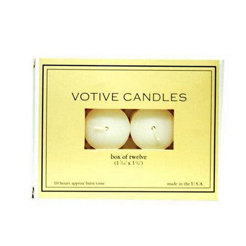 Votive Candles - White - Box 12
