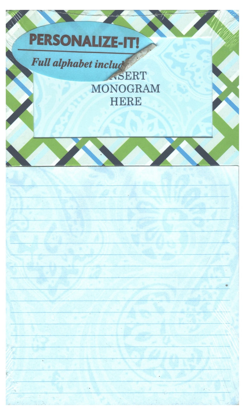 Allison Monogram Magnetic List Pad
