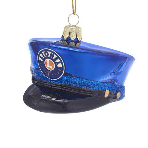 Lionel Glass Conductor Hat Ornament