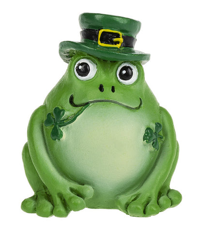 Twice the Luck Frog & Shamrock Stone