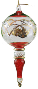 Full Size Gold Etched Sphere with Cone -
