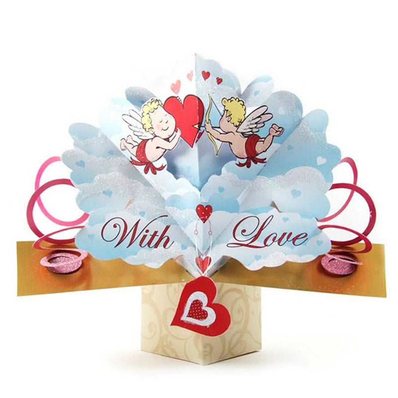 With Love Valentines Popup Card