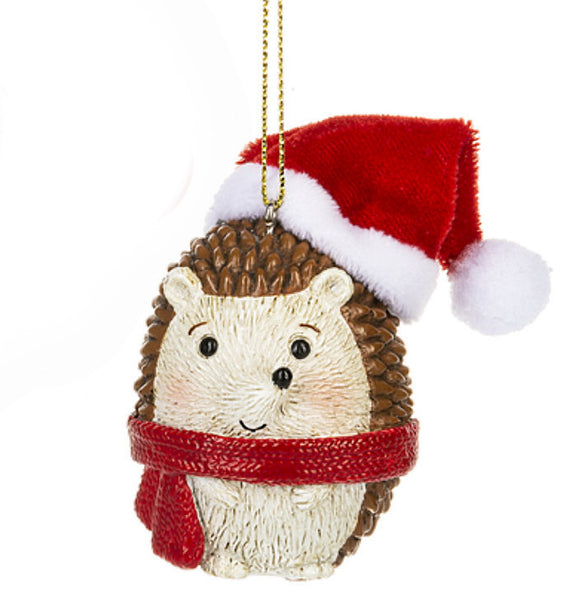 Hedge Hog in a Winter Hat Ornament -