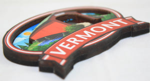 Covered Bridge Oval Magnet