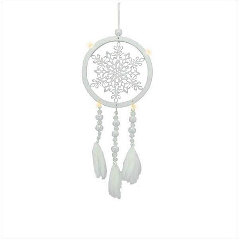 Lighted LED Snowflake Dream Catcher Ornament