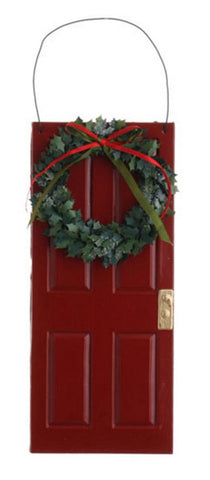 10 Inch Door with Wreath Ornament
