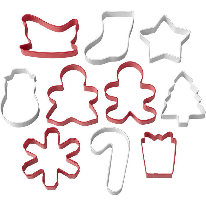 Wilton 10-Piece Christmas Cookie Cutter Set
