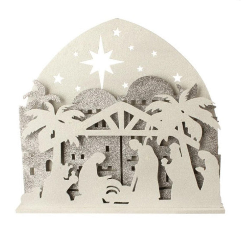 19 inch Lighted Nativity Silhouette