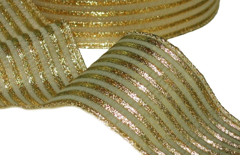 Gold / Gold Stripe Ribbon -