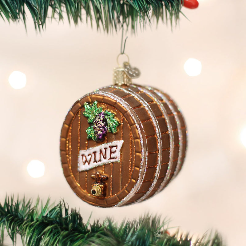 Wine Barrel Ornament