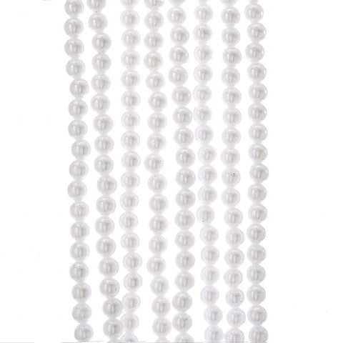 9 Foot White Faux Pearl Garland