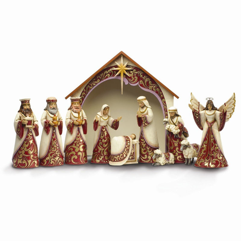 Jim Shore Christmas Adoration 11 Piece Nativity Set
