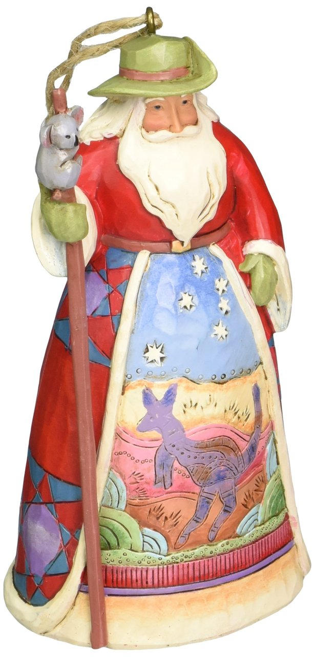 Australian Santa Stone Resin Hanging Ornament