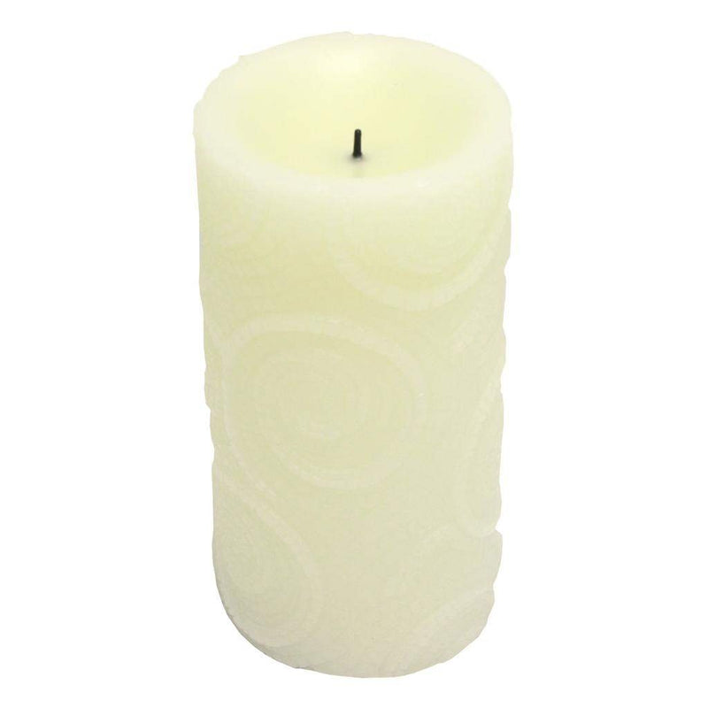LED Textured Mosaic Candle -