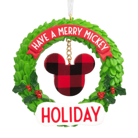 Mickey Mouse Wreath Icon Ornament