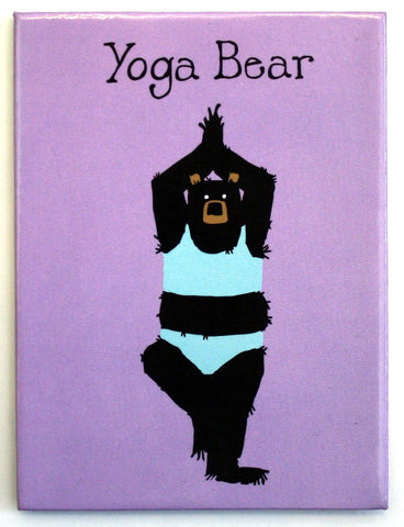 Magnet - Yoga Bear