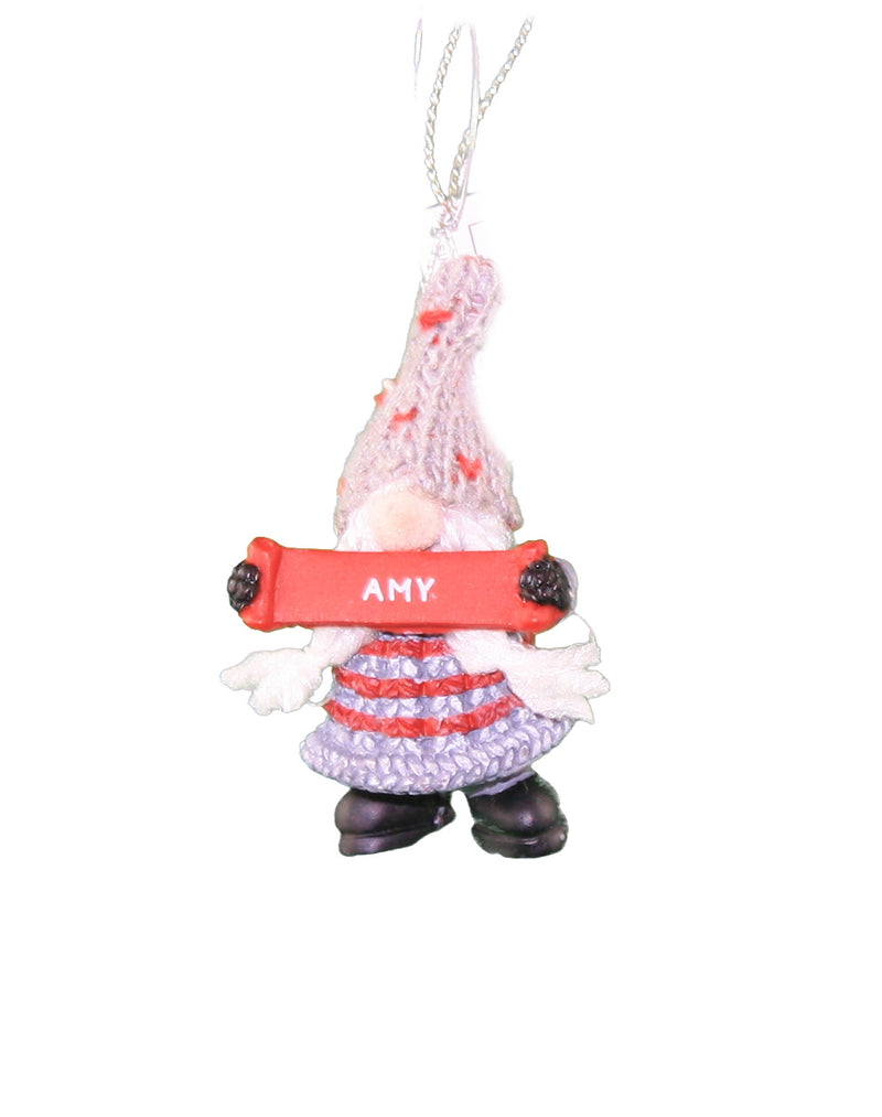 Personalized Gnome Ornament (Letters A-I) -
