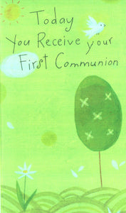 First Communion Card With Gift Card Holder Inside