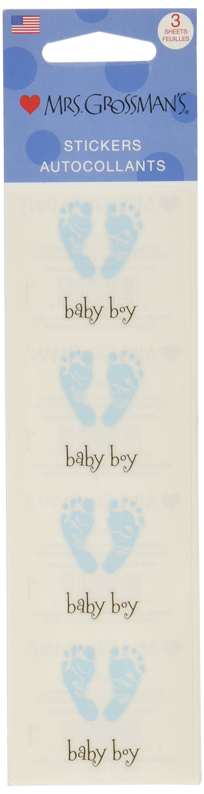 Mrs Grossman's Stickers - Blue Footprints